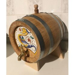 Barrel for wine or liquor, with cap and tap