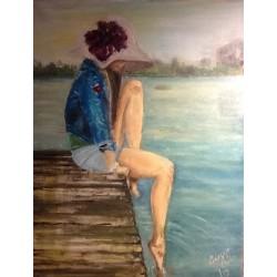 Femme sur la jetée
