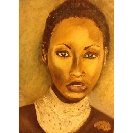 Volto di giovane donna africana