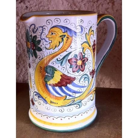 Boccale in ceramica, stile Raffaellesco