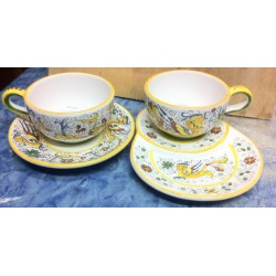 Two ceramic cups set