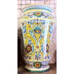 """Ceramic Umbrella stand, """"Raffaellesco"""" style"""