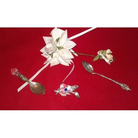 Bevorzugung für Zeremonie in Silber und Kristall