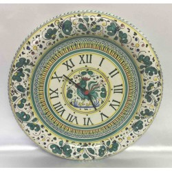 Orologio da parete in ceramica Deruta