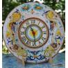 Orologio in ceramica Deruta su piatto d'arredo