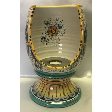 Bio caminetto in ceramica, stile ricco Deruta