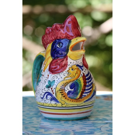 Brocca vino in ceramica Deruta, stile raffaellesco