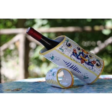 Porte-bouteille en céramique, style Riche Deruta