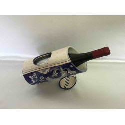 Ceramic table bottle holder, arabesque style