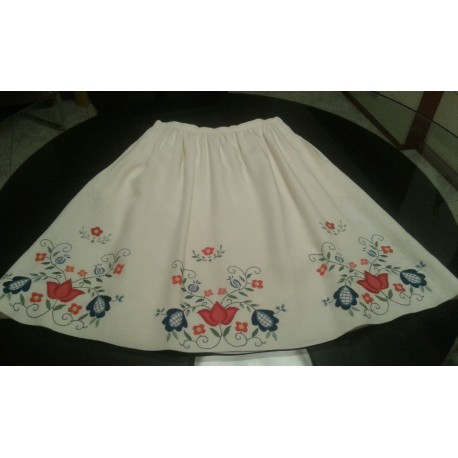 Embroidered skirt by hand