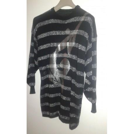 Maxi-tricot en laine et lurex