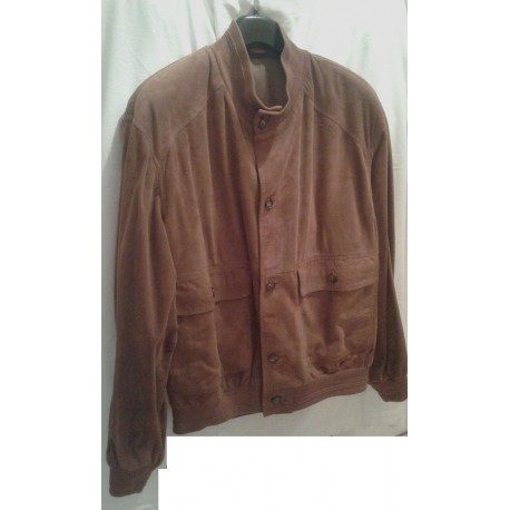 Jacket in genuine leather for men