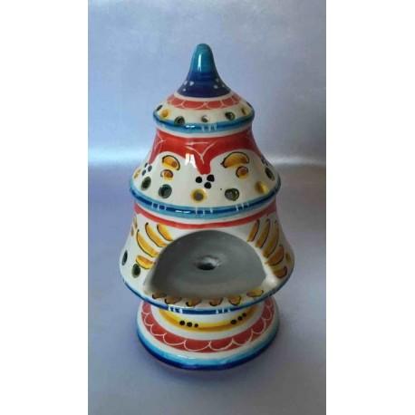 Keramik Kerzenhalter in Form eines kleinen Weihnachtsbaumes