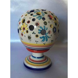 Ceramic candle holder in the shape of a ball
