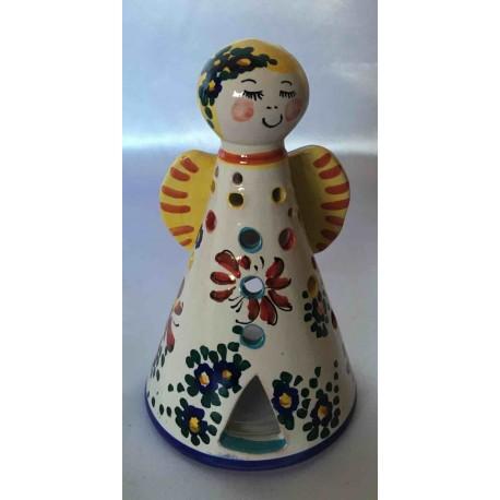 Angioletto portacandela in ceramica