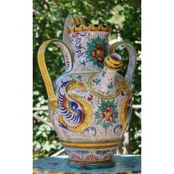 Ánfora de cerámica Deruta, estilo Raphael
