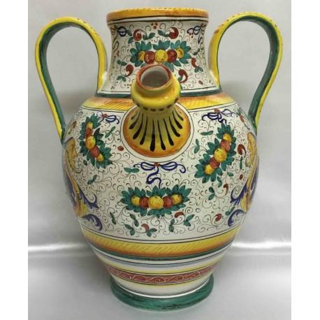 Brocca in ceramica Deruta stile raffaellesco