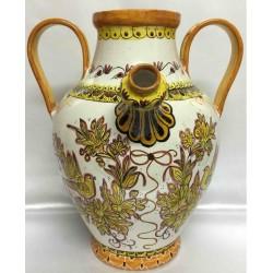 Brocca in ceramica stile Deruta