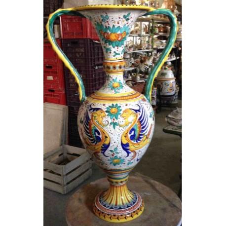 Deruta ceramic amphora, Raphael style
