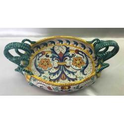 Deruta ceramic artistic centerpiece