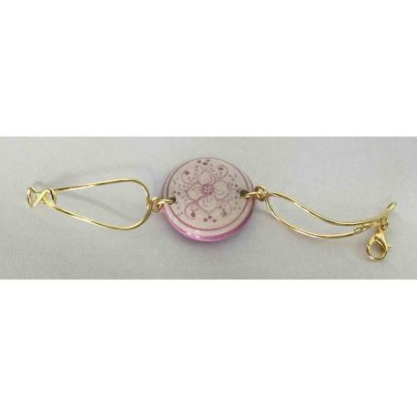 Bracelet en céramique, cuivre et laiton dans un bain d'or