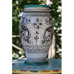 Vaso in ceramica Deruta, stile raffaellesco