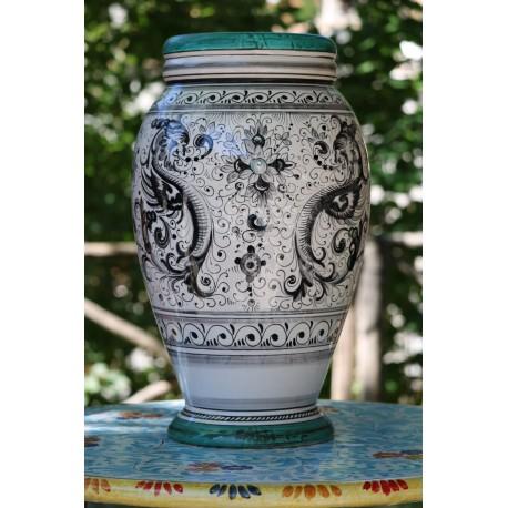 Florero de cerámica Deruta, estilo Raphael