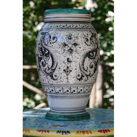 Vase in ceramic Deruta, Raffaello's style
