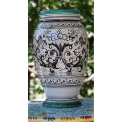 """Ceramic vase Deruta, """"rich Deruta"""" style"""