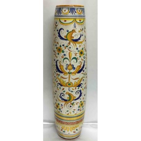 Vaso in ceramica Deruta, bordo liscio
