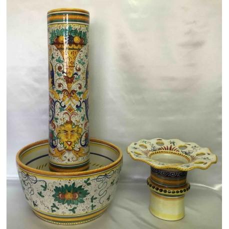 Umbrella or valuable sticks stand, Deruta ceramics