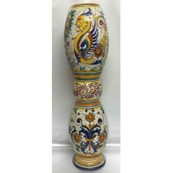Schirmständer oder Stäbe Deruta Keramik, doppelte Dekoration