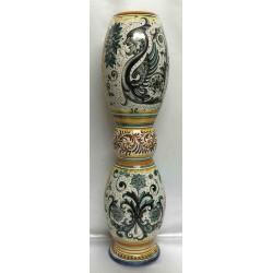 Porte parapluie ou bâtons en céramique Deruta, double décor