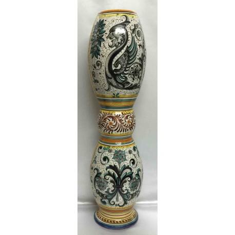 Portaombrelli o bastoni in ceramica Deruta, doppio decoro