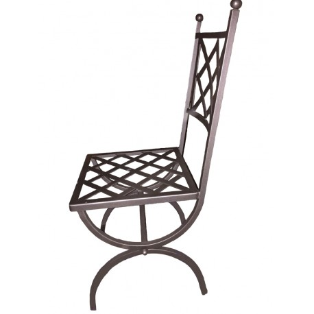 Wrought iron chair handmade