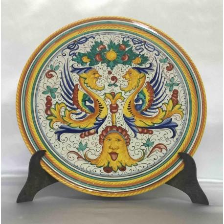 Plaque d'ameublement en céramique Deruta, style Raffaello