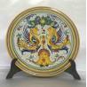 Piatto d'arredo in ceramica Deruta, stile raffaellesco