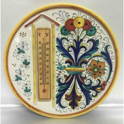 Deruta ceramic furnishing plate, with thermometer