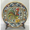 """Piatto d'arredo in ceramica Deruta, con gallo, stile """"ricco Deruta"""""""