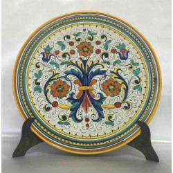"Deruta ceramic furnishing plate, ""rich Deruta"" style"