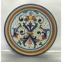 Deruta ceramic furnishing plate, rich Deruta style