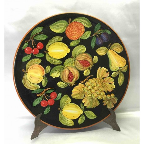 Hand-painted artistic plate, fruity decoration