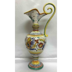Brocca in ceramica stile raffaellesco Deruta