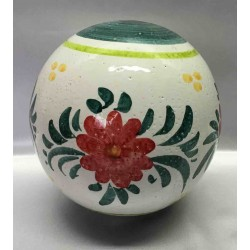 Ceramic ball to decorate the garden