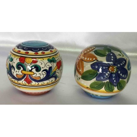 Ceramic ball to decorate the garden, DUO set