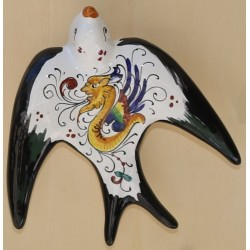 Hand-painted ceramic swallow