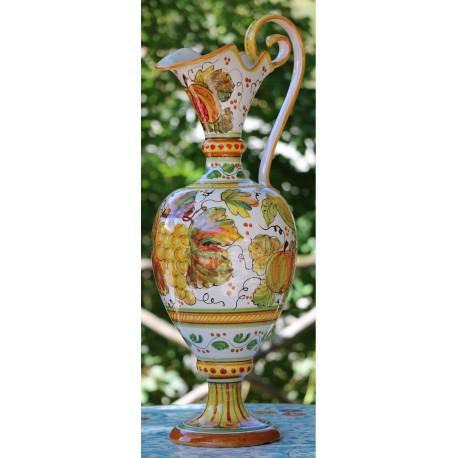 Deruta ceramic jug, with handle