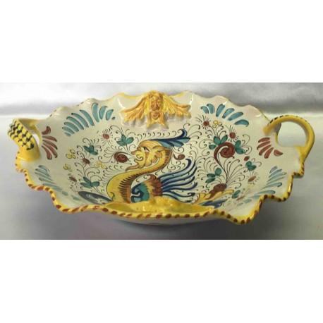 Bol de fruitas de cerámica Deruta, estilo de Raphael