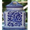 "Ceramic Deruta ""blue bird"" box with lid"