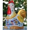 Deruta Keramik Hahn, handbemalt